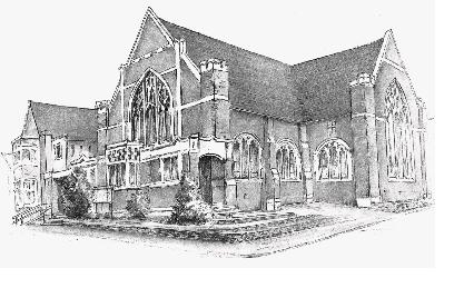 Sketch impression of the church
